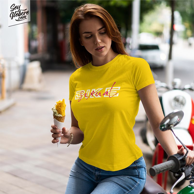 Camiseta Bike Sexual Mujer
